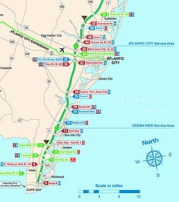 New jersey map for Directions to garden state parkway south