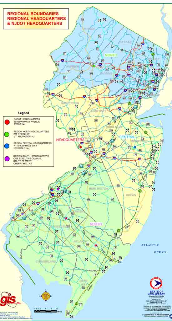 maps of new jersey state. New Jersey State Map