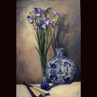 Dutch Irises, oil 24x36