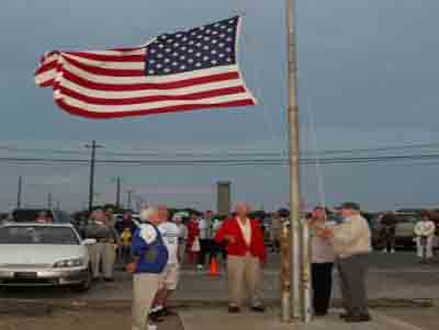 Sunset Beach - Flag Lowering Ceremony