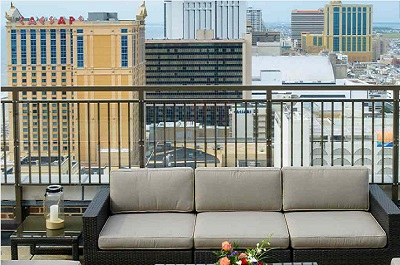 The VÜE Rooftop Bar & Lounge at the Claridge Atlantic City